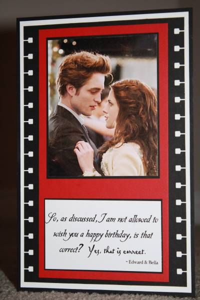15 best Twilight birthday images – Twilight Birthday Card