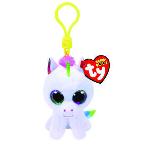 Ty Beanie Boo Pixy The Unicorn Keyring Clip Girls Bags Toy Collection Bag Charm