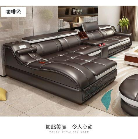 Furniture Real Genuine Cow Leather Sofa