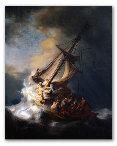 Espacio De Imágenes Y Palabras Rembrandt La Tormenta En El Mar De Galilea Tormenta En El Mar Pinturas De Rembrandt Rembrandt