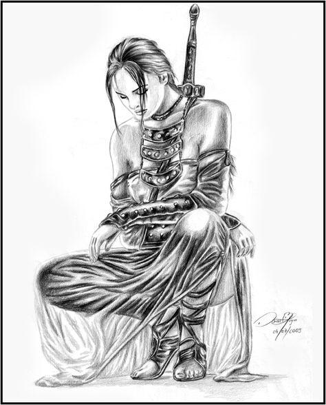 Female Warrior by danielbogni.deviantart.com on @deviantART