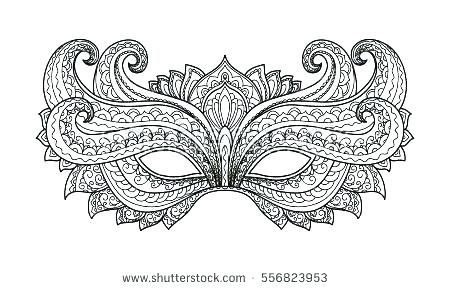 Mardi Gras Coloring Page Coloring Pages Free Masks Free Mardi Gras