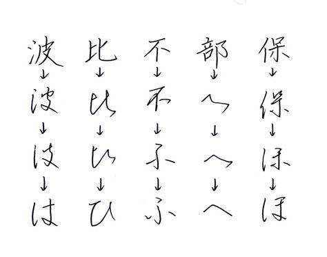 ひらがなの成り立ち パート3 ひらがな レタリング 美文字 文字の書き方