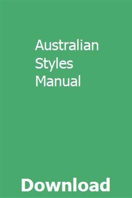 Australian Styles Manual Manual Of Style Editing Practice University Website