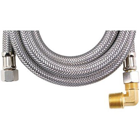 Certified Appliance Dw60ssbl Braided Stainless Steel Dishwasher Connectors With Elbow 60 Inch Size 60 Inch Stainless Steel Dishwasher Dishwasher Hose Accessories