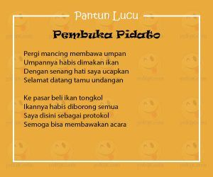 Pantun Lucu Bahasa Sunda Untuk Pembukaan Pidato
