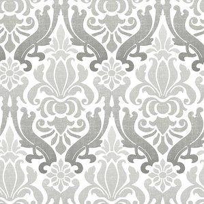 Nouveau 18 X 20 5 Damask Peel And Stick Wallpaper Roll Damask Wallpaper Silver Wallpaper Nuwallpaper
