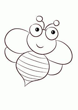 Ari Boyama Sayfasi Bee Coloring Page Dibujo De Abeja
