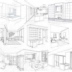 An Amazing Drawing Of A House Interiordesignideas Interior