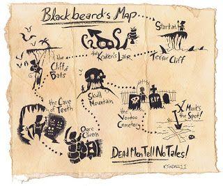 Blackbeard S Treasure Map Treasure Maps Pirate Maps Treasure Hunt Map