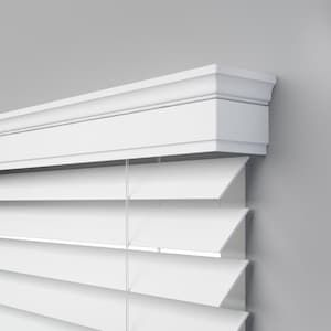 Levolor Trim Go 2 5 In Cordless White Faux Wood Room Darkening Blinds Common 39 In Actual 38 5 In X 72 In Lowes Com In 2020 White Faux Wood Blinds Faux Wood Blinds Kitchen Faux Wood Blinds Living