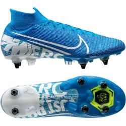 Reduced Soccer Shoes For Men Nike Mercurial Superfly 7 Elite Sg Pro Anti Clog New Lights Blue White Nike In 2020 Soccer Shoes Mens Football Boots Football Boots