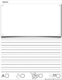 FREE! The best little kindergarten writing paper you've ever seen!