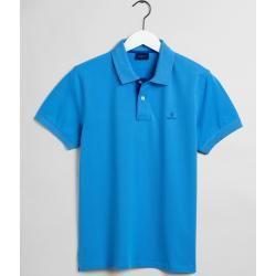 Gant Kontrast Piqué Rugger Poloshirt (Blau) Gant