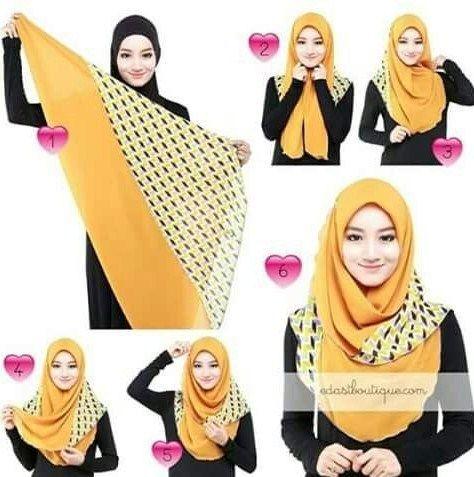 Tutorial Hijab Pashmina Muka Lonjong Blog Lif Co Id