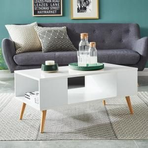 Cdiscount Com Table Basse Scandinave Table Basse Decoration Blanc