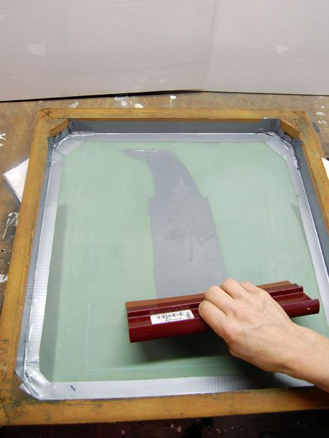 How To Screen Print At Home Silk Screen Printing Diy Diy Screen Printing Screen Printing Equipment