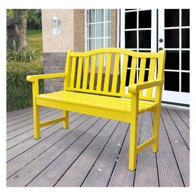 Chair Bench Ends Kit Garden Patio Yard Deck Wood Seat Wooden Outdoor Furniture