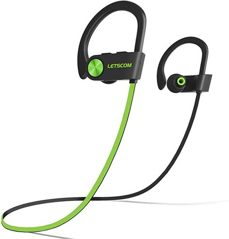 Amazon.com: LETSCOM Bluetooth Headphones V5.0 IPX7 Waterproof, Wireless Sport Earphones, HiFi Bass Stereo Sweatproof Earbuds W/Mic, Noise Cancelling Headset for Workout, Running, Gym, 8 Hours Play time: Electronics Best Workout Headphones, Best Bluetooth Headphones, Waterproof Headphones, Sports Headphones, Over Ear Headphones, Wireless Speakers, Noise Cancelling Headset, Sport Earbuds, Headphone With Mic