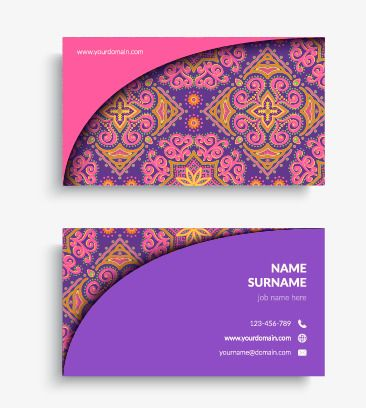 Purple Business Card Vector Purple Red Business Card Background