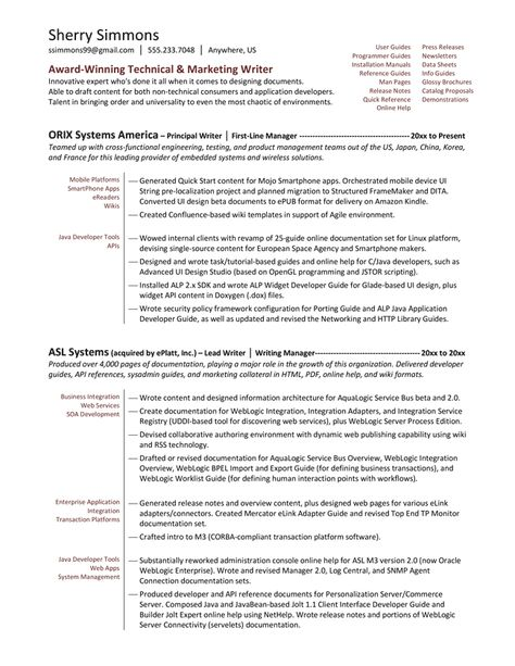 Technical Writer Functional Resume Sample -    www - technical writing resume