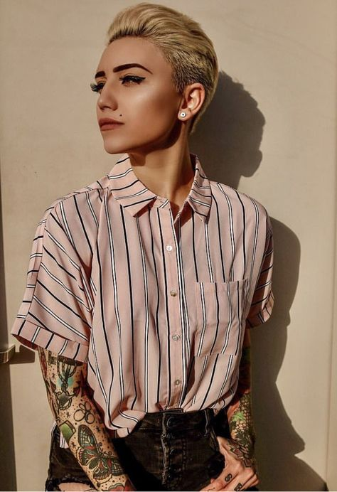 androgynous fashion 100 Most Stylish dapperQs 2019 Style Outfits, Tomboy Outfits, Cool Outfits, Casual Outfits, Fashion Outfits, Unisex Outfits, Tomboy Clothes, Fashion Pants, Queer Fashion