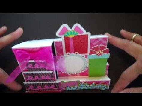 Side Step Birthday Card-Sweet Treats Cricut Cartridge
