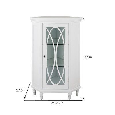 Kelly Clarkson Home Gabby 24 75 W X 32 H X 17 5 D Free Standing Bathroom Cabinet Birch Lan Bathroom Standing Cabinet Glass Cabinet Doors Cabinets For Sale