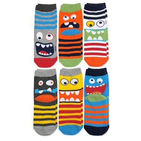 Boys Socks Dinosaur Stretch Cotton Crew Socks for Kids
