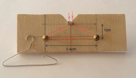 how to: making miniature hangers from a jig