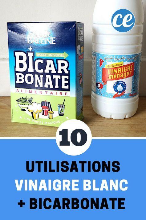 Vinaigre Blanc Bicarbonate 10 Utilisations De Ce Melange Magique Produit De Nettoyage Faits Maison Produits De Nettoyage Naturels Produit Menager Fait Maison