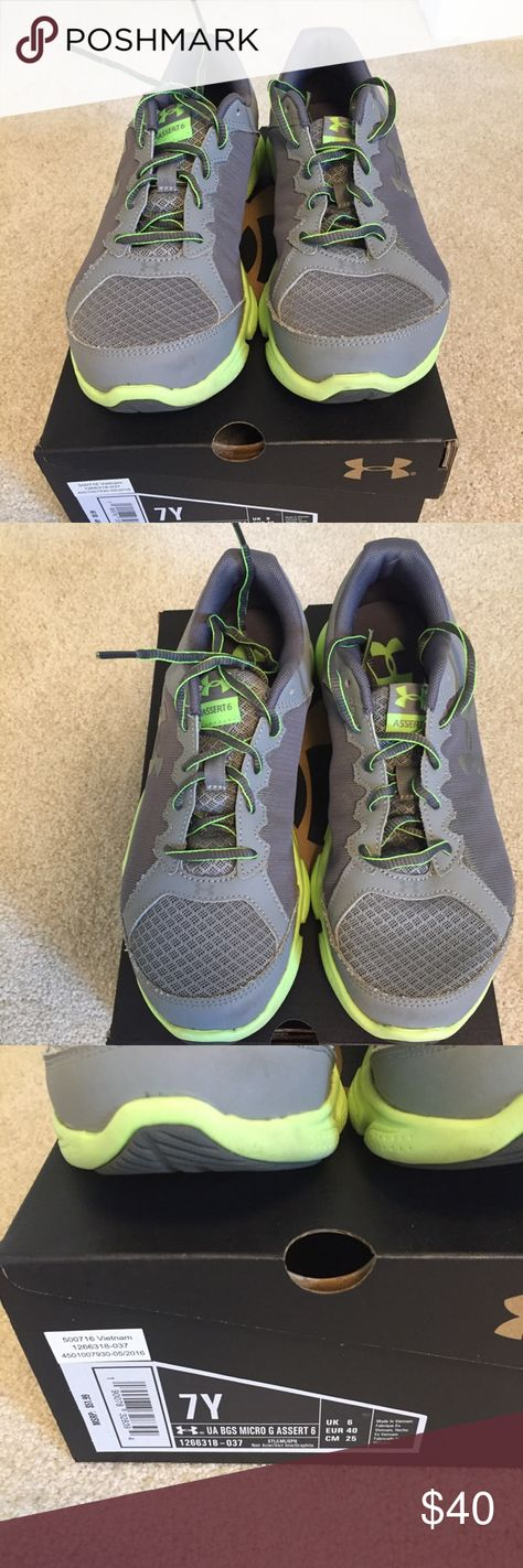 lime green under armour shoes