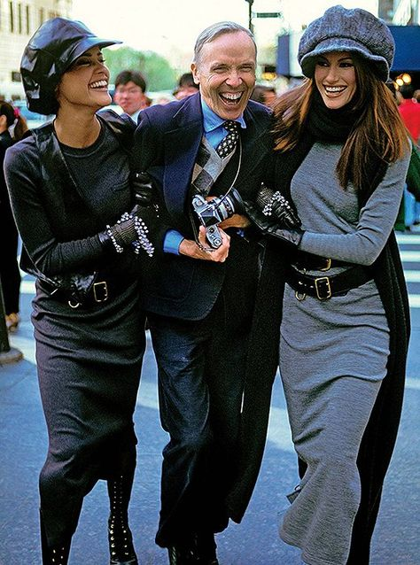 """""""We all dress for Bill,"""" Anna Wintour once said. Remembering the legendary photographer Bill Cunningham, who was truly a national treasure. Photographed by Arthur Elgort, Vogue, July"""