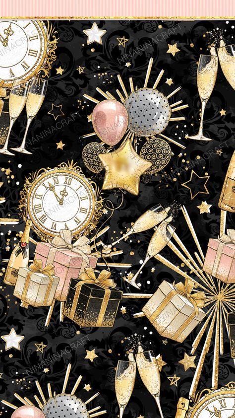 Pink New Year Wallpaper, Apple Wallpaper, Wallpaper Iphone Cute, Cellphone Wallpaper, Disney Wallpaper, Iphone Wallpapers, Planner Stickers, Fireworks Wallpaper, Overlays