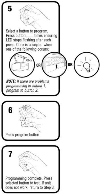 How To Program The Chamberlain Garage Door Remote Klik1u Garage Door Remote Chamberlain Garage Door Garage Doors