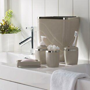 Canora Grey Sayers Lotion Pump Soap Dispenser Bathroom Accessories Bathroom Accessory Set Beautiful Bathroom Decor