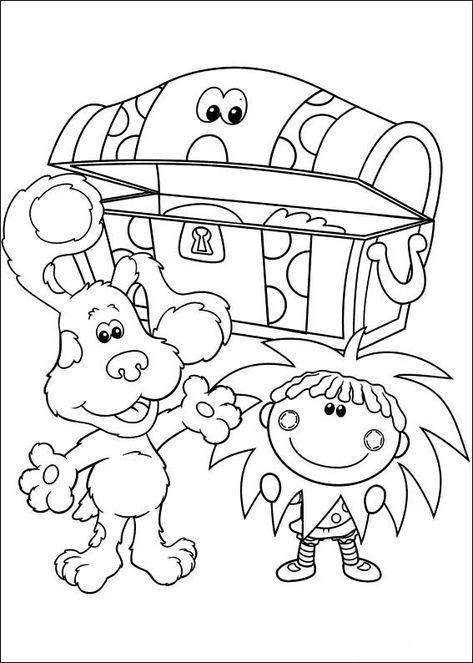 blue's clues 29 ausmalbilder für kinder malvorlagen zum