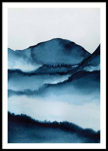 Watercolor Mountains Poster In The Group Poster Art Prints By