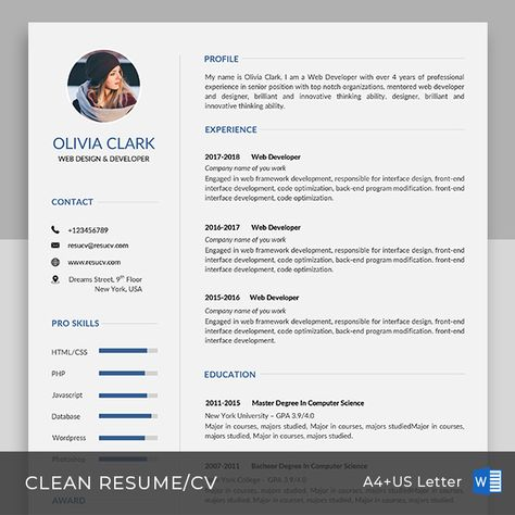 16 best resume and cv templates images on Pinterest Cv template