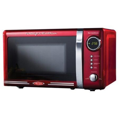 Nostalgic Retro Vintage Old Fashion Countertop Red Mid Size Microwave Oven Countertop Microwave Oven Countertop Microwave Microwave Oven