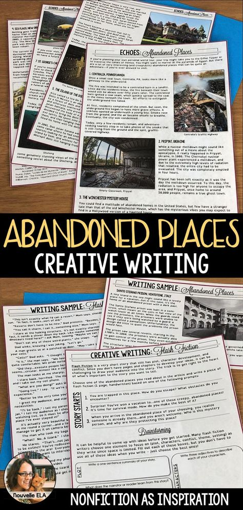 Abandoned Places - Creative Writing from Nonfiction - Paper + Digital