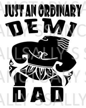 Free Instant download, comes with svg, dxf, ai, eps, png and jpg versions of the same artwork. An Ordinary Demi Dad Father S Day Svg For Cricut Silhouette Marine Dads Star Wars Dad Silhouette Diy SVG, PNG, EPS, DXF File