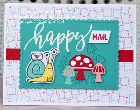 Card Tags, I Card, Snail Cards, Kids Cards, Craft Cards, Stamping Up Cards, Animal Cards, Happy Mail, Cool Cards
