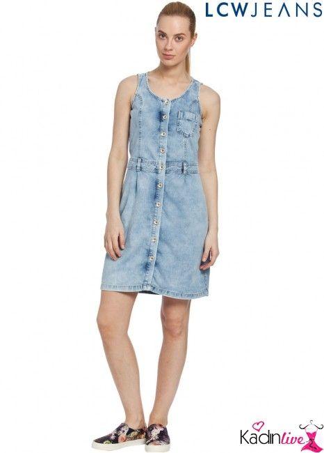 Yeni Sezon Lc Waikiki Lcw Askili Jean Elbise Modelleri Kadinlive Com Moda Stilleri Elbise Modelleri Elbise