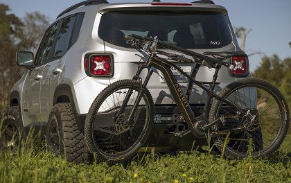 Avid Lexicon Rear Bumper W Integrated Retractable Bike Rack Bike Rack Jeep Renegade Jeep Accessories