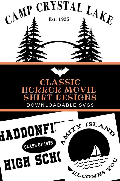 Classic Horror Movie Shirt Designs For Halloween - With SVG Files