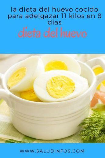 La Dieta Del Huevo Cocido Para Adelgazar 11 Kilos En 8 Días Dieta Huevo Adelgazar Y Food Healthy Smoothies Food