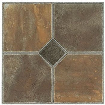 Amazon Com Home Dynamix 1009 Dynamix Vinyl Tile 12 By 12 Inch Multi Box Of 20 Home Kitchen Vinyl Flooring Vinyl Tile Flooring