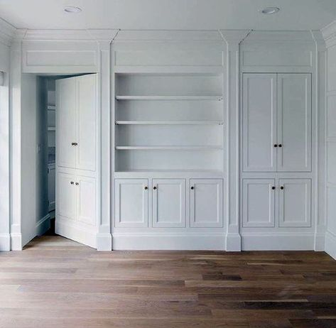Top 50 Best Hidden Door Ideas Secret Room Entrance Designs is part of Living Room DIY Closet Doors - Discover a bit of fun and mystery with the top 50 best hidden door ideas Explore entrances to secret rooms featuring hinged bookcases to walls and beyond Secret Rooms In Houses, Hidden Closet, Hidden Pantry, Hidden House, Closet Built Ins, False Wall, Hidden Spaces, Bookcase Door, Entrance Design