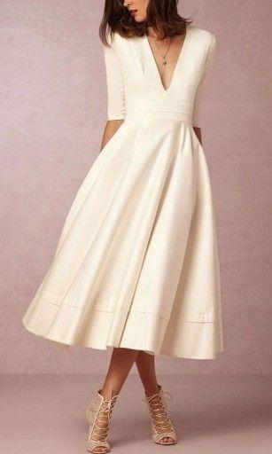 Sukienka Sukienki Suknia Kolory Wesele Studniowka 7606936687 Allegro Pl Wiecej Niz Aukcje Tea Length Wedding Dress Midi Dress Party Gorgeous Wedding Dress